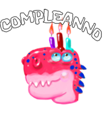 Dummysaurs compleanno pulsante